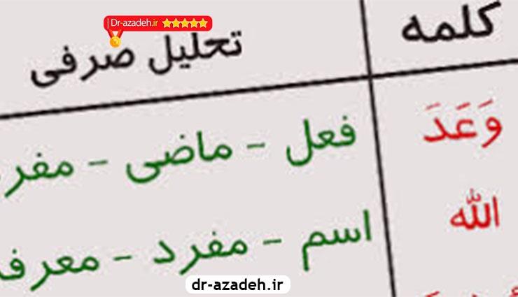 کامل ترین بودجه بندی تحلیل صرفی عربی کنکور